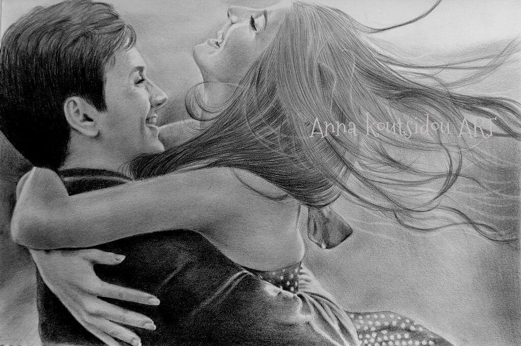 20 Mind-Blowing Pencil Drawings By Greek Artist That Illustrate The Beauty Of Love - Forever my lady