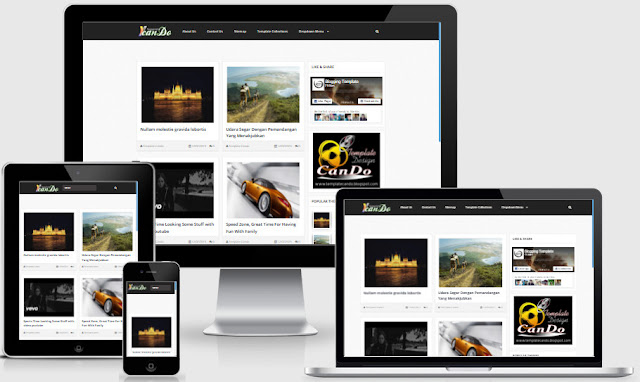 Cando Simple Grid Responsive Blogger Templates