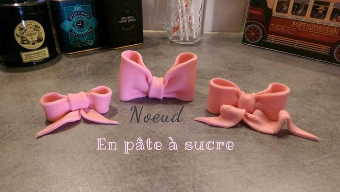 tutoriel noeuds pâte à sucre