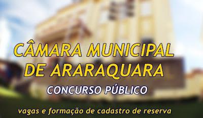 Apostilas para Concurso Câmara de Araraquara 2017.