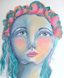 tamdoll painted upturned face moving away from fear