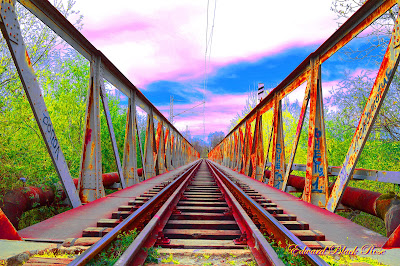 train bridge rail bridge wallpaper photography