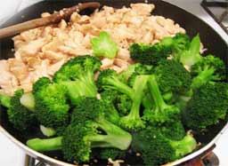 как приготовить брокколи с курицей