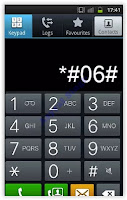 IMEI number - dialing code