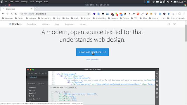 Brackets Code Editor Terbaik 2018