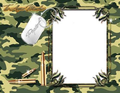Marco para fotos de soldados, cadetes, militares