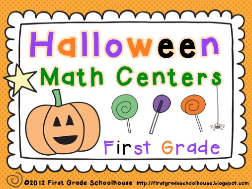 first grade schoolhouse halloween math and calendar math. Black Bedroom Furniture Sets. Home Design Ideas