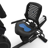 Nautilus R618 gel cushioned seat with airflow backrest, image