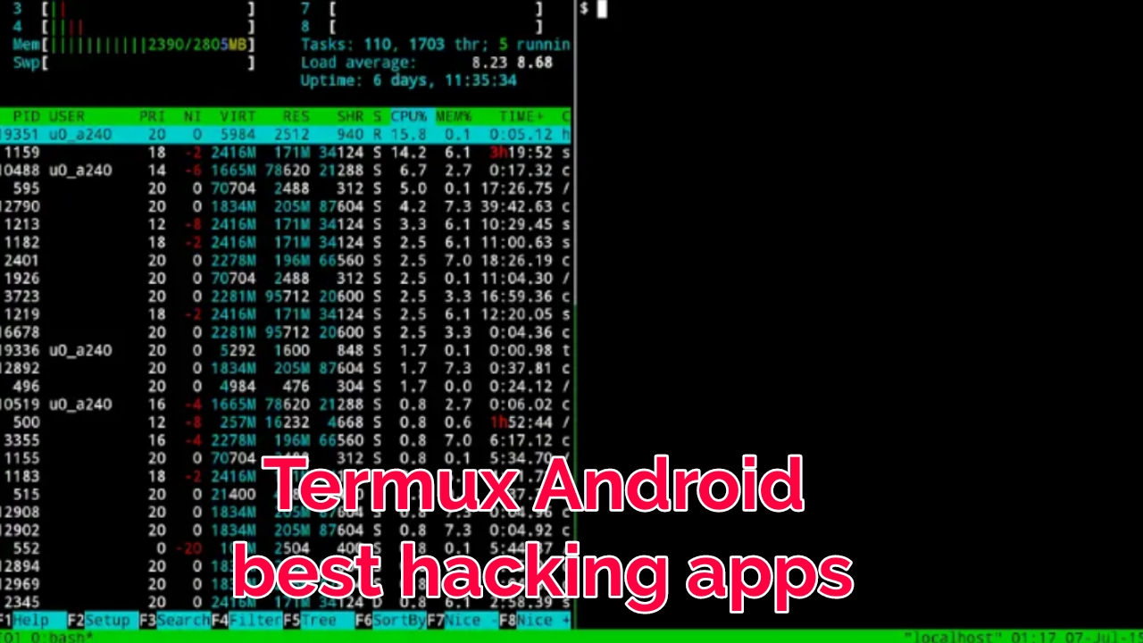 Termux best Android hacking application and best operating
