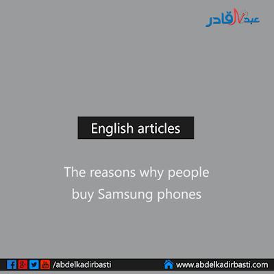 The reasons why people buy Samsung phones