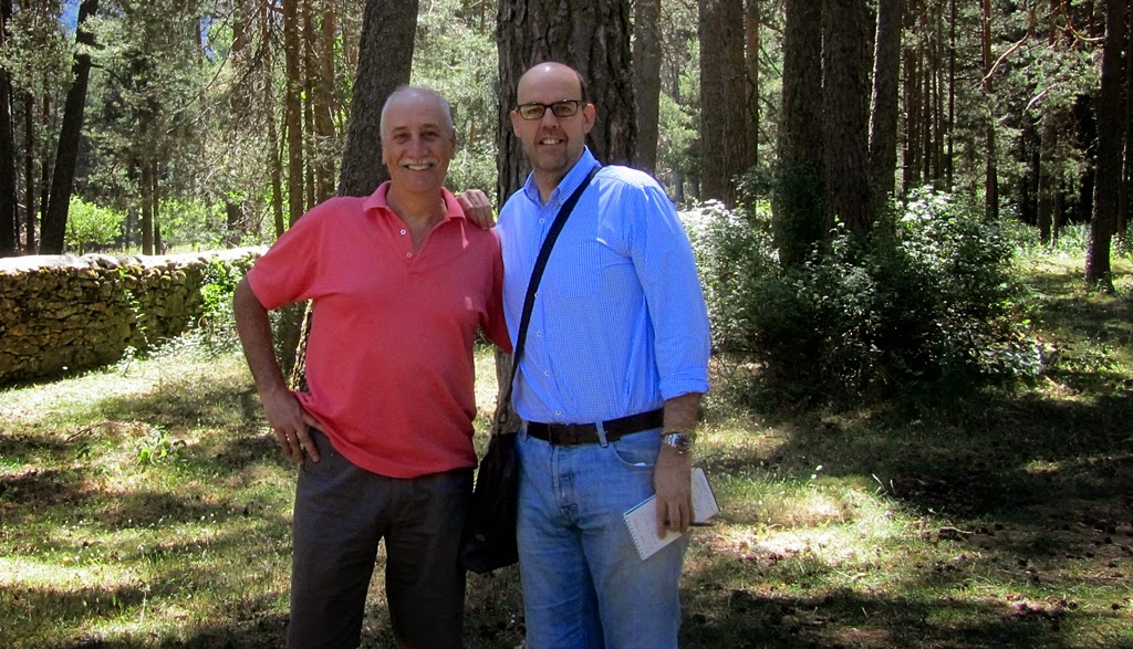 Jordi Basté en San Rafael con Alfonso