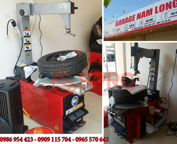 Máy tháo lốp ô tô, máy ra vào vỏ xe NK324M dành cho gara chăm sóc ô tô