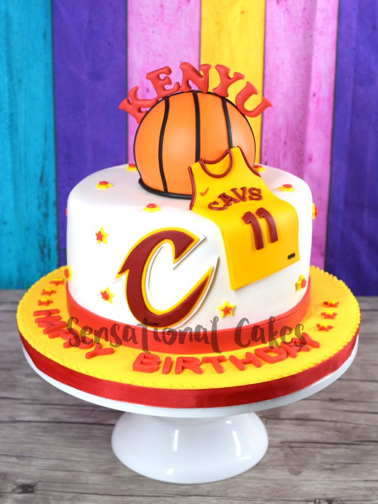 The Sensational Cakes Basketball Theme Jersey And Ball Design Boy