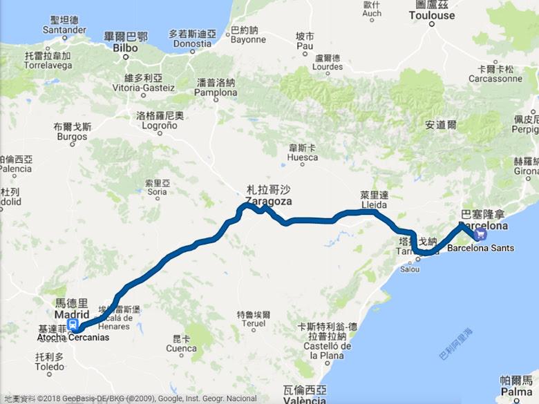 620 公里的行程,花費將近 3 個小時的交通