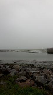Rivage à Rimouski, temps gris