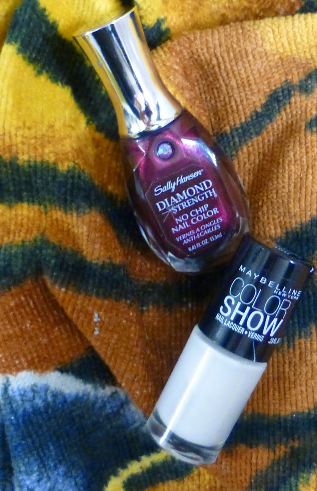 Sally Hansen Save The Date and Maybelline Color Show Porcelain Party nail polishes