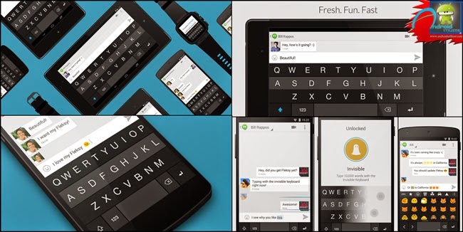 Fleksy Keyboard - Happy Typing Android screenshot