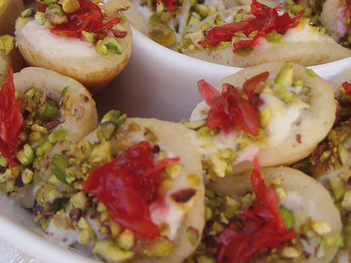 Katayef With Cream and Cherry Jam Recipe – Arab Recipes