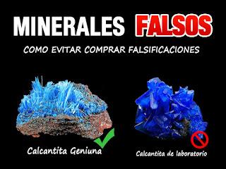 Minerales Falsos - Como evitar comprar falsificaciones