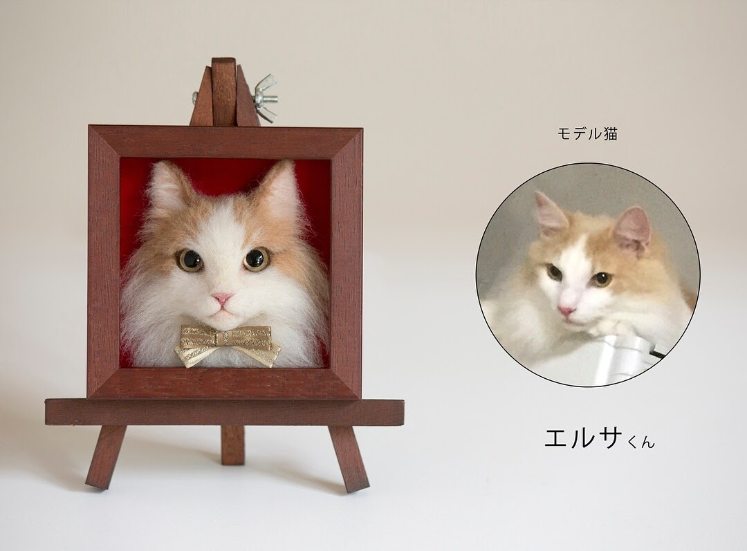 06-Wakuneco-Wool-Needle-Felt-Cat-Portraits-and-Video-Demonstration-www-designstack-co