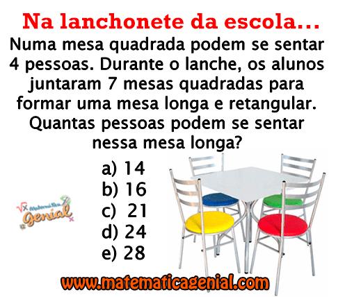 Desafio: Quantas pessoas podem se sentar na mesa longa?