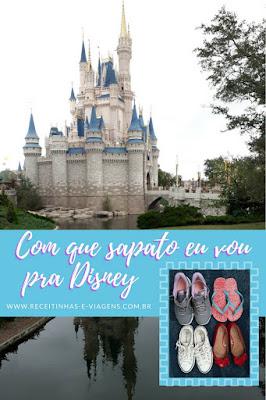 Que sapato levar para uma viagem à Disney