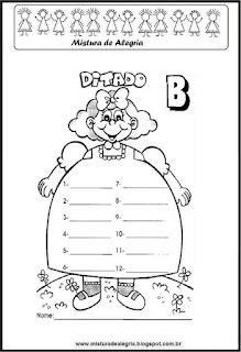 Treino ortográfico letra B boneca