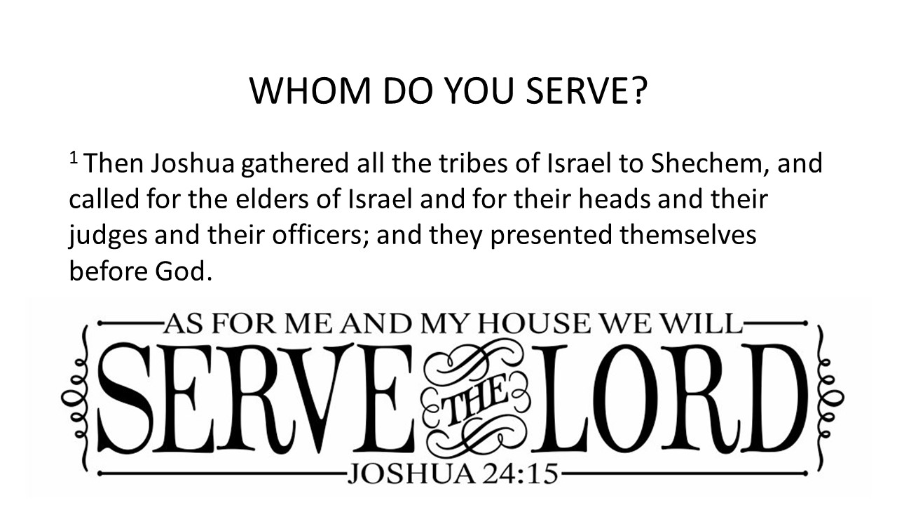 Sermons: As For Me, Joshua 24:14-28