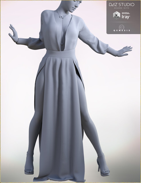 Daria Dress Outfit for Genesis 3 Female