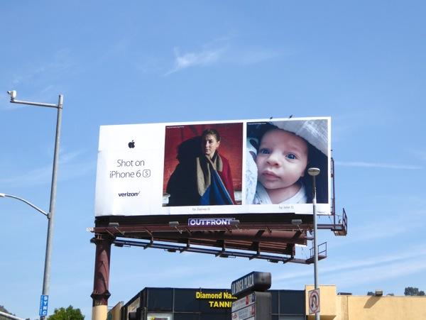 Shot on iPhone 6s baby billboard