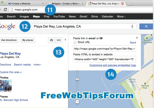 Learn To Change The Footer, Read Add Google Maps And