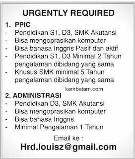 Lowongan Kerja Administrasi Lulusan SMK dan D3 Akuntansi
