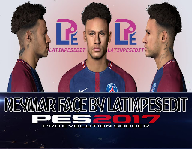 Neymar Jr Face Hair Tattoo - PES 2017 - World Cup 2018
