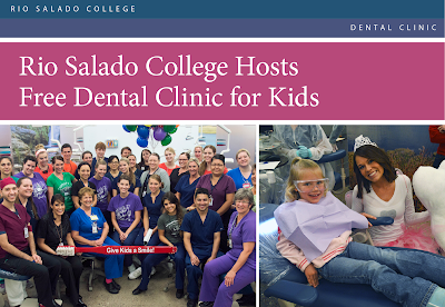 snapshot of event flier.  Text in blog.  Images of Rio dental students at the clinic.