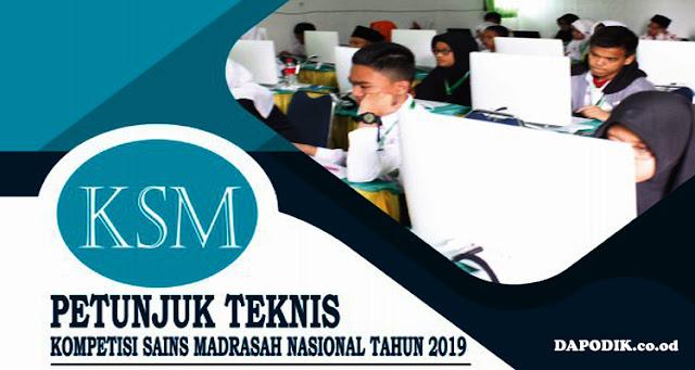 Juknis Kompetisi Sains Madrasah (KSM)  Tahun 2019