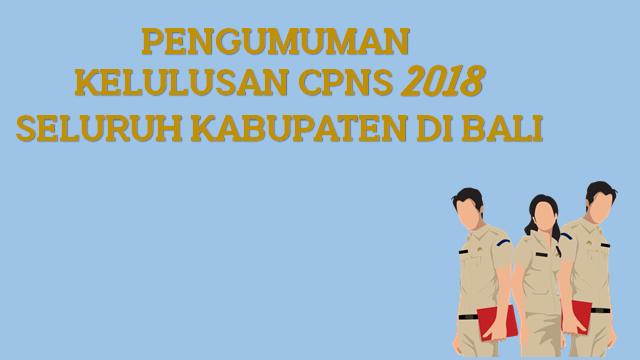 Pengumuman Kelulusan CPNS 2018 Seluruh Kabupaten Di Bali