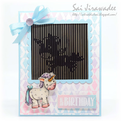 Animated Unicorn Birthday Card