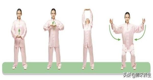 """""""兩手托天理三焦""""1個動作,每天做一做,提昇陽氣、疏通氣血(通行元氣)"""