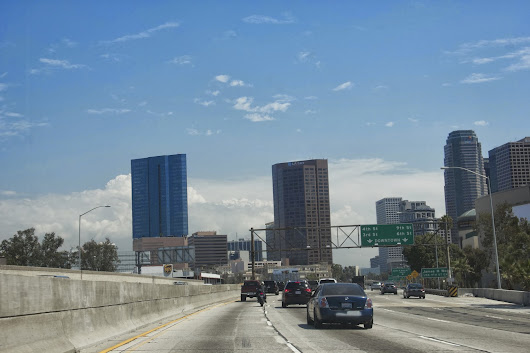 Downtown LA view from the Freeway