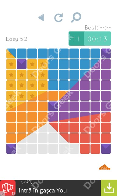 Cheats, Walkthrough for Blocks and Shapes Level 52