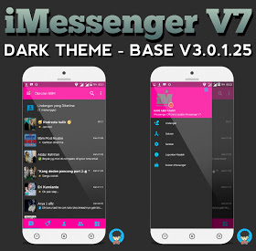 BBM IMesenger Dark Theme V3.0.1.25 Apk