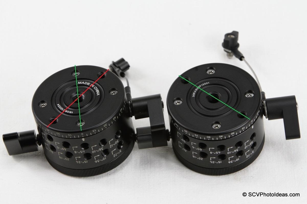 Sunwayfoto DDP-64M PIR older and updated bottom mounting comparison