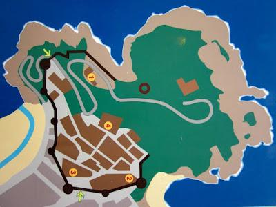 Mapa de la Vila Vella de Tossa de Mar