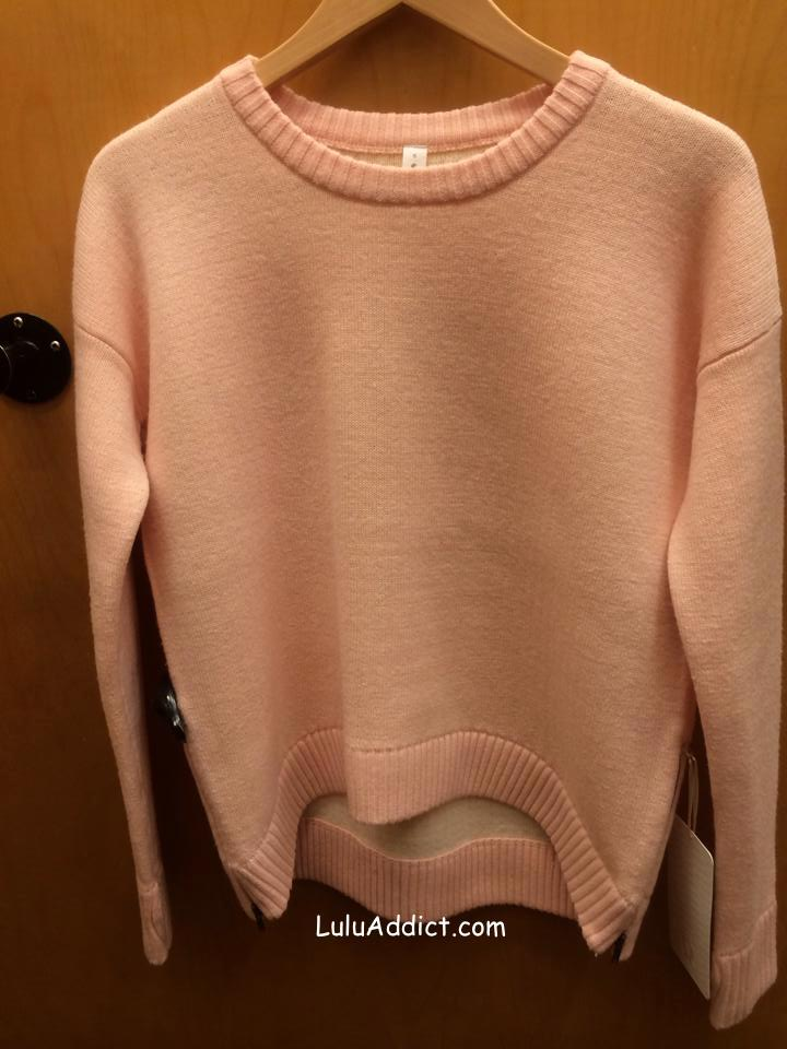 lululemon yogi crew sweater hearts
