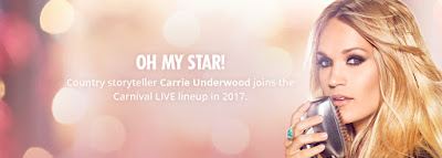 Carrie Underwood to Perform on Carnival Cruises' Carnival Imagination on April 2, 2017 Sailing