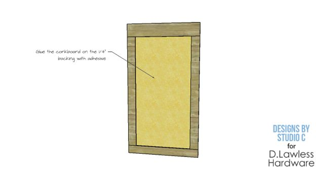 DIY Corkboard Plans - D. Lawless Hardware - Step 4