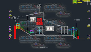 download-autocad-cad-dwg-eco-housing-solar-panels-wind-turbine-compost-silo