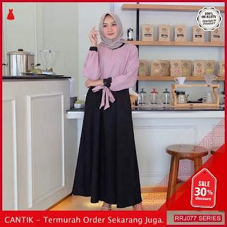 Jual RRJ077D172 Dress Kira Twotone Wanita Maxy Mo Terbaru BMGShop