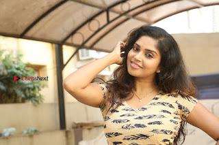 Telugu Actress Karunya Chowdary Stills in Short Dress at ATM Not Working Press Meet  0330.jpg