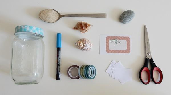 DIY : Bocal à souvenirs de vacances